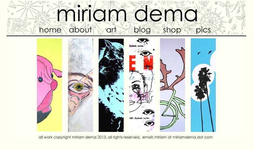 miriamdema-2007-website-homepage