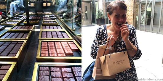 miriam dema in Paris Alain Ducasse Le Chocolat 2014