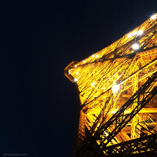 miriam dema in Paris Eiffel Tower at night 2014 2014
