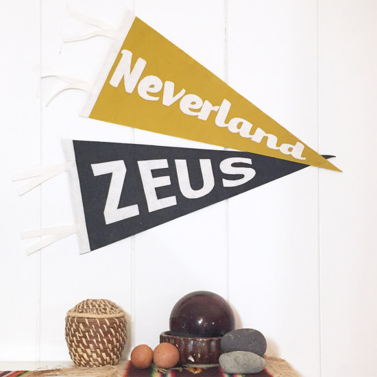 miriamdema custom pennant zeus and neverland